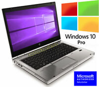 HP PRO LAPTOP ELITEBOOK 8460P INTEL i7 4GB 320GB HD DVD WiFi WINDOWS 10 WEBCAM