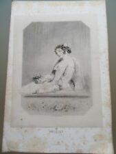 GRAVURE ORIGINALE 1860 BIJOUX ACCESSOIRES LE BOUQUET