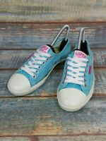 Ladies Superdry Trainers Blue Canvas UK Size 5