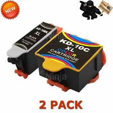 2 Pack 10XL 10 XL Ink Cartridges For Kodak ESP 3 5 7 9 3250 5210 5250 6150 9250