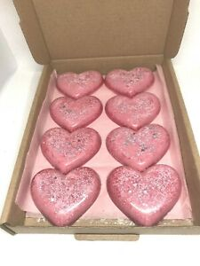 Glittery Heart Shaped Wax Melts Spring Flowers Scented in Gift Box