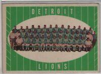 1961 Topps Detroit Lions Team #37