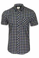 Ben Sherman Mens Short Sleeved Checked Shirt