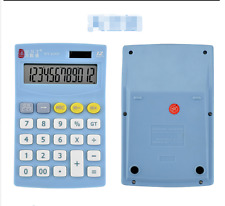 2 X Electronic Calculator 12 Digit Battery Solar Power student accounting office
