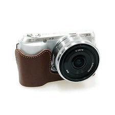New HORUSBENNU HC-NC3 Synthetic Leather Camera Half /Bottom case for SONY NEX-C3
