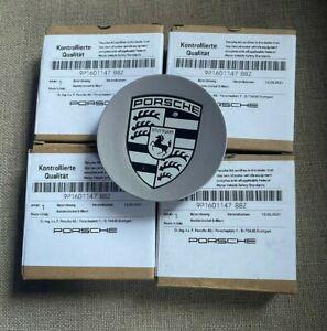 NEW GENUINE PORSCHE 911 CAYMAN BOXTER CAYENNE WHEEL CENTER CAPS x4 9p1601147