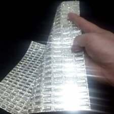 Clear Square Glass Rhinestones Self Adhesive Applique / Sticker Sheet