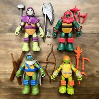 Mystic Leo Raph Donnie Mikey TMNT Ninja Turtles Figures Lot Complete Set 2014