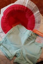 Gymbore Baby Girl Size 18-24  Short. And sun hat size 2t-3t