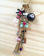 NWT Betsey Johnson Rare First Date Ice Cream Perfume Detachable Lanyard Necklace