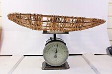Vintage Hughes Baby Weigher 28 Pound Scales With Wicker Basket Salter British