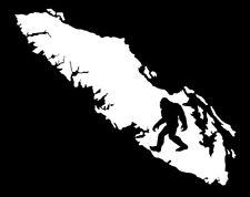 VANCOUVER ISLAND SASQUATCH  WHITE DECAL