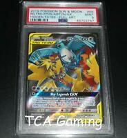 PSA 9 MINT Moltres Zapdos & Articuno GX 66/68 Hidden Fates FA Pokemon Card