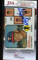 Whitey Herzog 1973 Topps Jsa Coa Hand Signed Authentic Autograph