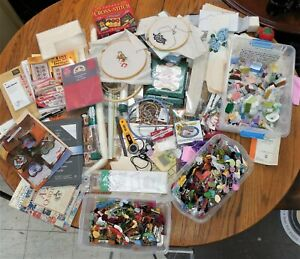 HUGE LOT OF EMBROIDERY FLOSS & STUFF... 100's & 100's of ITEMS!!