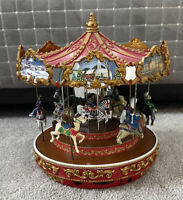 Mr. Christmas carousel music box horses