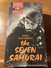 The Seven Samurai Vhs double pack Factory Sealed