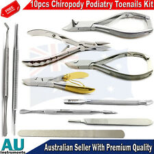 Chiropody Podiatry Instruments Kit Podiatrist Ingrown Toenail Surgery Removals
