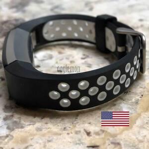 Soft Breathable Silicone Sport Wrist Band Fitbit Alta  Fitbit Alta HR BLACKWHITE