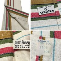 Vintage STARTEX Striped Kitchen Hand Tea Dish Towel ~ UNUSED Original Price Tag