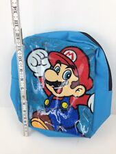 "Official Nintendo Super Mario World Bioworld Backpack Book Bag Glitter Blue 12"""