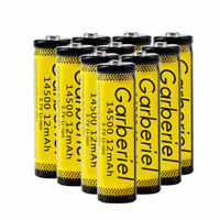 10PCS 14500 3.7V 1200mAH BRC Lithium Rechargeable Li-ion Battery For Flashlight