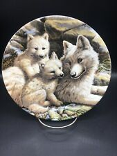 Arctic Wolf Family - 8 1/2 The Beauty Of Polar Wildlife Collector Plate ~
