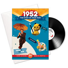 1952 66th Birthday | Anniversary Gift -1952 4-In-1 CD Card - Story of Your Year