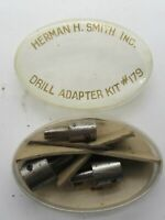 Vintage Herman H. Smith, Inc. 3  Bit Drill Adapter Kit No. 179
