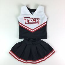 Texas Tech Baby Girls Cheerleader Costume Outfit Black Red Two Piece Size 2T