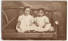 Portrait Of 2 Somerset Babies, Mary & Lily Crossman RP PPC, Unposted, Langport