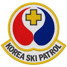 Ski Fan Aufnäher Korea Ski patrol
