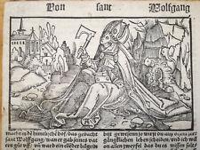 Post Incunable Life of Saints Heiligenleben Woodcut Saint Wolfgang 1521