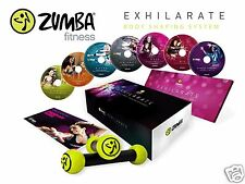 ZUMBA EXHILARATE Body Shaping 7 DVD Deluxe Set + Toning Sticks + 1Y Warranty