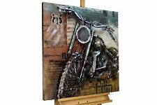 Relieve de pared metal 3D 'Relieve de pared metal 'motocicleta gris marrón Rut .