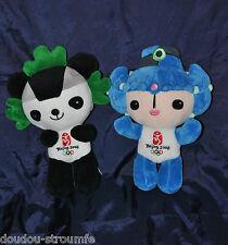Lot 2 Peluche Doudou BeiBei & JingJing Mascotte Officielle JO Pékin 2008 25 Cm