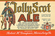 Graupner Jolly Scot Ale Bier Etikett T Shirt Harrisburg Größen Small-XXXLarge (F