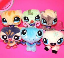 "Lot 6 LITTLEST PET SHOP Plush Toys 7 - 9"" Horse Birds Cat Butterfly VIPs Stuffed"