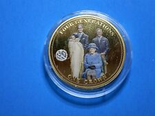 Four Generations One Crown - Queen Elizabeth II - Longest Monarchy  Coin