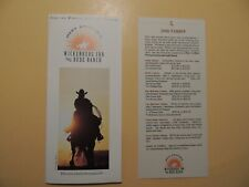 Merv Griffin's Wickenburg Inn & Dude Ranch Wickenburg Arizona brochure rates '00