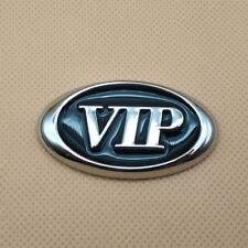Metal Black VIP Oval Logo Side Fender Car Emblem Decal Auto Badge V I P Sticker