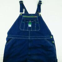 Big Man's Original Liberty Blue Denim Bib Overalls 48x30 Work Wear Jeans Dark