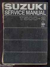 1969 SUZUKI  T500-2 MOTORCYCLE SERVICE MANUAL