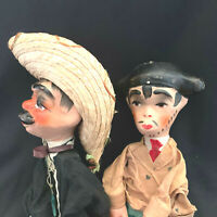 Vintage Mexican Hand Made Folk Art Puppets Bull Fighter Man With Sombrero