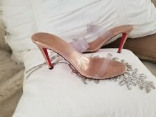 Woman Christian Louboutin Shoes size 36.5 6.5  Clear Heels Stilettos