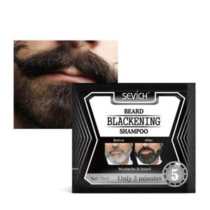 5 Minutes Men Efficient Blackening Beard Coloring Nourishing Beard Shampoo Dye