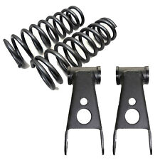 """1980-1996 Ford F150 F-100 2WD 2"""" Front Drop Coils Springs 2"""" Shackles #253620"""