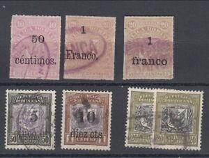 Dominican Republic 1883 lot (6-256)