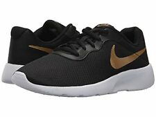 pretty nice f7cd4 fd639 Nike Boys Tanjun Sneakers 4 Boys Youth GS Shoes NIB Black With Gold Lace Up