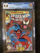 Spider man Unlimited #1 CGC 9.8 NM+ 1ST APPEARANCE SHRIEK & Custom Carnage label